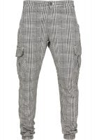 Checkered trousers with side pockets, men front