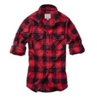 Checkered flannel shirt lady Red/Black 1