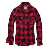 Checkered flannel shirt lady Red/Black 2