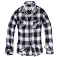 Checkered flannel shirt lady White/Black 2