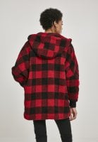 Checkered oversize sherpa jacket 3
