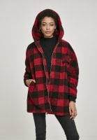 Checkered oversize sherpa jacket 4