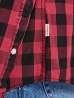 Checkered shirt men black/red