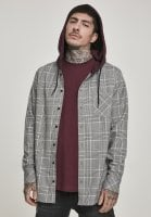 Checkered shirt with hood 1