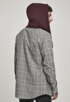 Checkered shirt with hood 3