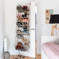 Shoe storage for door