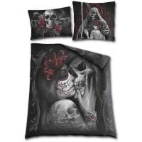 Skull roses Double Duvet Cover + UK And EU Pillow case