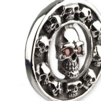Skulls In A Circle amulet