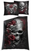 Skulls N' Roses single duvet cover + UK and EU pillow case 1