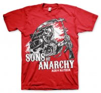 Sons Of Anarchy kläder Reaper röd t-shirt