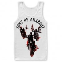 Sons Of Anarchy Motorcycle Gang vitt linne