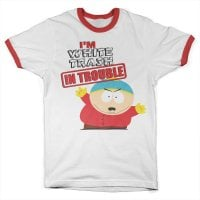 South Park - I'm White Trash In Trouble Ringer Tee 1