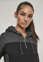 Sporty dress with hood neck