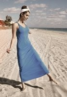 Sporty long dress blue
