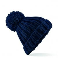 Knitted hat with thick yarn navy