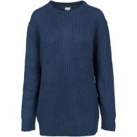 Knitted sweatshirt lady navy single front