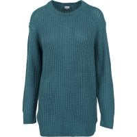 Knitted sweatshirt lady teal single front