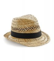 Straw hat with black ribbon 3