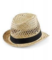 Straw hat with black ribbon 4
