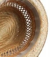 Straw hat with black ribbon 5