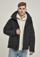 Black multipocket winter jacket 1