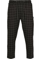 Black and white checkered trousers mens front