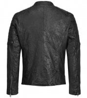 Black leather jacket mens 2