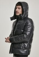 Black padded men's jacket with removable hood sleeve