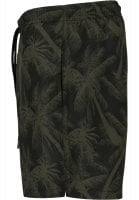 Black swim shorts with palm trees plus size 2