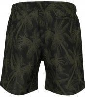 Black swim shorts with palm trees plus size 3