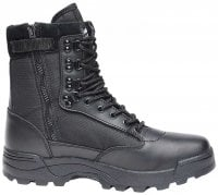Tactical boots zipper black