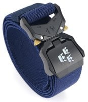 Tactical stretch belt royal crowns navy blue