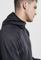 Active Melange Zip Hoody neck