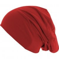 Long Thin Beanie Red side