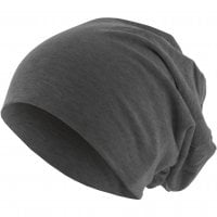 Long Thin Beanie Heather Charcoal front