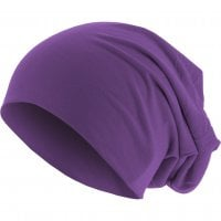 Long Thin Beanie Purple front