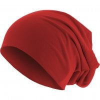 Long Thin Beanie Red front