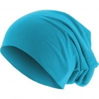 Thin Beanie blue shades turquoise front