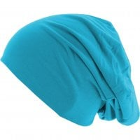 Thin Beanie blue shades turquoise side
