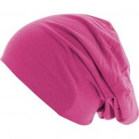 Thin Beanie Neon Magenta side
