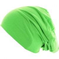 Thin Beanie Neongreen side
