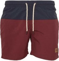 Two-color bath shorts navy/bur