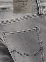 Washed gray jeans shorts men 4