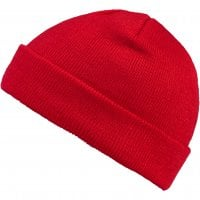 Folded beanie red 2