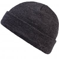 Folded beanie heather charcoal 2