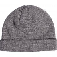 Folded beanie heather grey 1