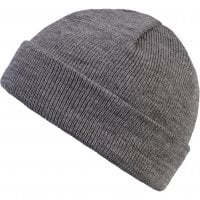 Folded beanie heather grey 2