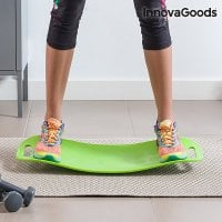 Balance board with exercise guide leg