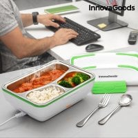 Green White Electric Lunch Box food