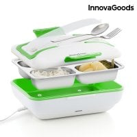 Green White Electric Lunch Box plastic
